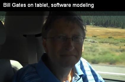 Bill Gates on tablet software modeling