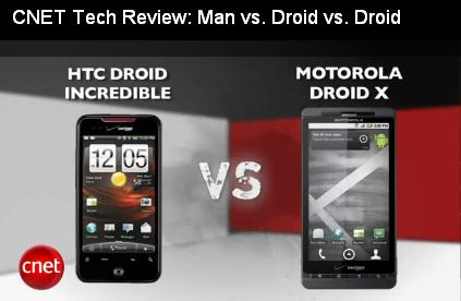 CNET Tech Review man vs droid vs droid