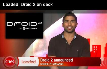 Loaded Droid 2 on deck