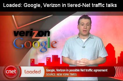 Loaded Google Verizon tiered net traffic talk