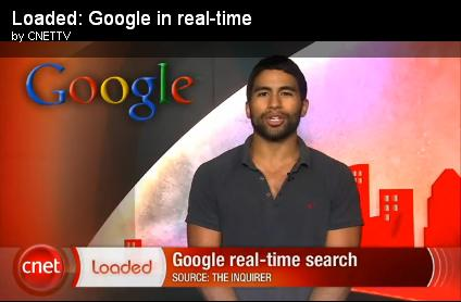 Loaded Google in real time